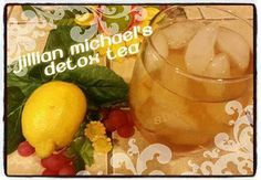 Jillian Michael's Detox Tea This is her recipe for the water used in her 7-day detox to lose 5lbs of excess water weight. ... Ingredients 1 gallon of filtered water 2 T 100% pure cranberry juice (no sugar added, non-cocktail) 4 T lemon juice 2 dandelion root tea bag Directions Combine water and juices in a pitcher and add tea bag. Drink the water throughout the day, allowing the tea bag to remain in the pitcher. Drink half of one pitcher each day for 7 days. According to Jillian Michaels…