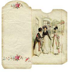 Vintage Coin Envelopes – Vintage Freebies Envelope Writing, Diy Envelope, Vintage Labels, Vintage Ephemera, Vintage Crafts, Vintage Paper, Journal Cards, Junk Journal, Journal Ideas