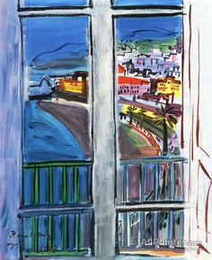 Raoul Dufy,Window On The Promenade Des Anglais oil painting reproductions for sale