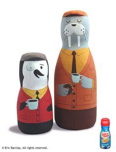 O ilustrador que transforma objetos e embalagens descartadas em personagens