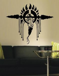 AMERICAN INDIAN FEATHER HEADDRESS WALL ART STICKER XLRG VINYL DECAL