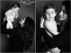 des portraits enfant / maman réalisés lors d'une séance familel au studio instants capturés sur Garches (92). Photographe: Amélie Soubrié