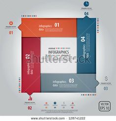 Minimal infographics design. Vector by Darko1981, via Shutterstock