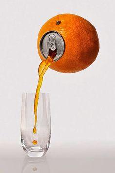 29 Imagens criativas feita com alimentos - Isto é Interessante