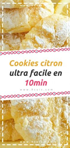 Cookies citron ultra facile en 10min – 9 Cuisine Desserts With Biscuits, Cookies Et Biscuits, Brownie Cookies, Flan, Nespresso, Cornbread, Coco, Nutella, Tea Time
