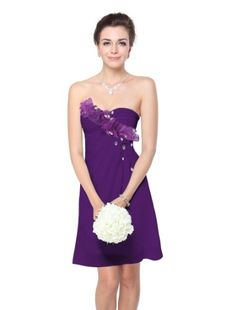 0ea608c4206 Ever Pretty Strapless Rhinestones Short Women Bridesmaid Party Dress 03597