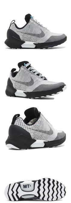 Basketball: Nike Hyperadapt 1.0 Shoes 843871 002 Metallic Silver Black  White - Mens Size 10