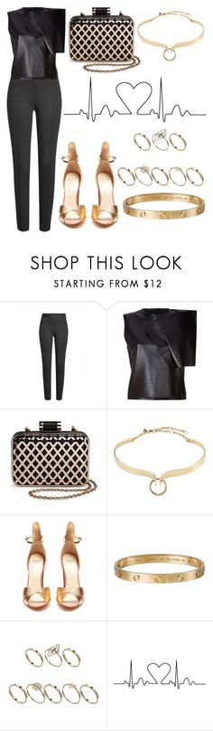 """""""Untitled #6151"""" by tatyanaoliveiratatiana ❤ liked on Polyvore featuring Boutique Moschino, J.W. Anderson, Tevolio, Alexis Bittar, Francesco Russo, Cartier and ASOS"""