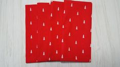 Christmas Cloth Napkins White Evergreen Pine Trees on Red Dinner Lunch 16 Inch Set of 4 Christmas Cloth Napkins, Cloth Dinner Napkins, Christmas Wine Bottles, Christmas Tablescapes, Bottle Bag, Free Studio, Gift Bags, Evergreen, Pine