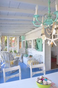 Jane Coslick Cottages : The Cottage Tour…a few images. Jane Coslick Cottages : The Cottage Tour…a few images. Decor, Key West Style, Cottage Porch, Cottage Decor, Beach Themes, Beach Cottages, Cottages By The Sea, Beach Cottage Decor, Cottage Style