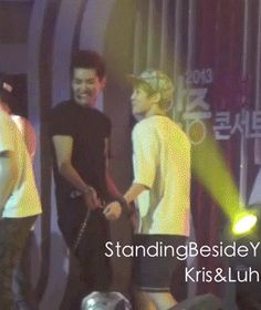 XiuRis omg they're too cute! || I love them when they're together. Kris looks so cute because of Xiumin