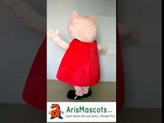 Adult size Peppa Pig mascot outfit for kids birthday party