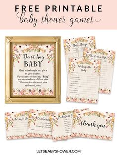 Free Printable Baby Shower Games for Girls! Everyone in the party will love playing these baby shower games and will even rave about how fun the party was.