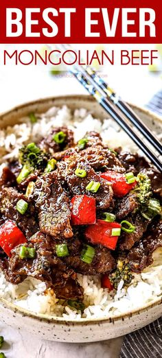 the BEST Mongolian Beef – the sauce is the best I've ever had! The juicy beef i… the BEST Mongolian Beef – the sauce is the best I've ever had! The juicy beef is crazy tender and so quick and easy with the option of adding stir fry vegetables! Asian Recipes, New Recipes, Cooking Recipes, Favorite Recipes, Healthy Recipes, Cooking Rice, Chinese Recipes, Healthy Dinners, Healthy Nutrition