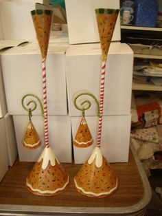 These are gingerbread candle snuffers