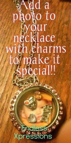 Do you like to cherish special memories of loved ones? What a perfect way to do that with our floating Lockets and charms you can add a photo of your loved one and have with you at all times. www.exbycindy.com