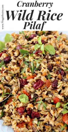 The Best Cranberry Wild Brown Rice Pilaf Recipe Easy Healthy Vegan Gluten Free CiaoFlorentina Rice Side Dishes, Side Dishes Easy, Side Dish Recipes, Food Dishes, Brown Rice Pilaf, Wild Rice Pilaf, Vegetarian Recipes, Cooking Recipes, Healthy Recipes