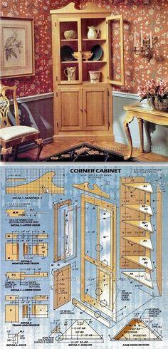 Classic Corner Cabinet Plans - Furniture Plans and Projects | WoodArchivist.com
