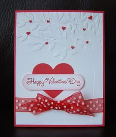 Stampin Up Handmade Valentine 4 Card Kit w sample, with embossing Valentines Greetings, Valentine Greeting Cards, Valentines Diy, Greeting Cards Handmade, Valentines Day Cards Handmade, Embossed Cards, Scrapbooking, Card Kit, Artisanal