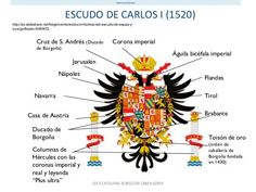 Escudo de Carlos I de España #CarlosReyEmperador #Carlos3 Catherine The Great, Spanish Royal Family, One Piece Manga, Family Crest, Cursed Child Book, Ms Gs, Countries Of The World, Military History, Coat Of Arms