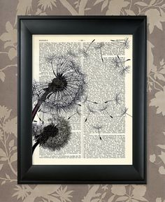 Dandelions Blowing in the Wind / Upcycled Antique by AnaGenessis