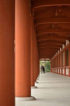 Yakushiji temple. Nara. Japan.薬師寺回廊