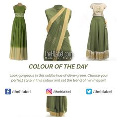 Look with a Perfect Outfit in Olive-Green - Says TheHLabel The HLabel's wide range of and wear collection in this shade is an ideal choice for family events. Choose your dress in this colour to stand out! Color Of The Day, Family Events, Prom Dresses, Formal Dresses, Looking Gorgeous, Kurti, Olive Green, Cool Designs, Ethnic