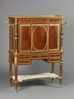 Secretary (secrétaire à abattant), Artist: Attributed to Adam Weisweiler (French, 1744–1820) Date: ca. 1780–90.