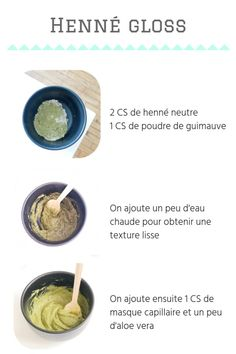 """Zoom sur le henné gloss : un soin fortifiant pour les cheveux """" Hair Care, You can throw out your unnatural conditioners, hair serum, and styling products, and replace them with this coconut oil which is an all-natural proble. Curly Hair Care, Curly Hair Styles, Natural Hair Styles, Henna, Causes Of Blackheads, Natural Hair Treatments, Hair Serum, Acne Skin, Natural Cosmetics"""