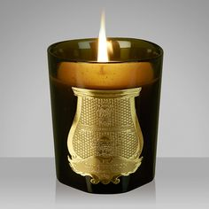 Cire Trudon La Marquise Scented Candle: Homage to Madame de Pompadour, the mistress of Louis XV and patron of the Arts. This voluptuous, luxurious scented candle mixes the sensual and feminine Rose with bright, stimulating citrusy notes. Housed within a beautiful hand-blown glass vessel. Comes in a beautiful dove grey presentation box.