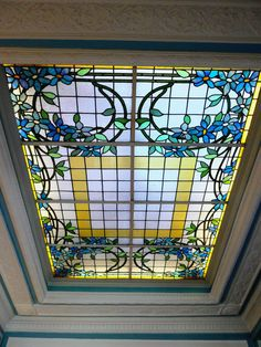 Geometric Stair Railings This Leaded Glass Barrel Vault