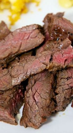 The Best Skirt Steak Marinade.... The Best Skirt Steak Marinade adapted from The Recipe Girl serves 6-8 (Printable Recipe)    1/4 cup soy sauce 1/3 cup Dijon mustard 1 1/2 Tbsp red wine vinegar 3 Tbsp worcestershire sauce 1/2 cup olive oil 2 Tbsp molasses 3 cloves garlic, minced 1/2 tsp onion powder 1 1/2 to 2 lbs skirt steak  Combine all ingredients and let marinate in the refrigerator for 3 hours to overnight.  Remove meat from marinade and grill to desired temperature. *Medium Rare is…