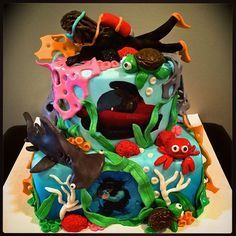 Sweety cakes - Scuba sea cake www.sweetycakes.ca