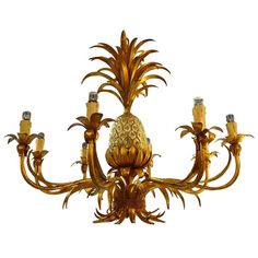 1950s Pineapple Chandelier | From a unique collection of antique and modern chandeliers and pendants at https://www.1stdibs.com/furniture/lighting/chandeliers-pendant-lights/
