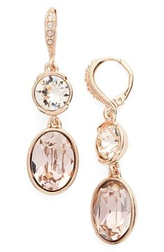 Givenchy Double Drop Crystal Earrings available at #Nordstrom