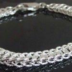 Sterling Silver half Persian bracelet with DragonDust