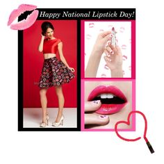 We personally want to wish you a...Happy National Lipstick Day! Today be bold and wear your favorite shade of lipstick! Designer Mac Duggal has the cutest two-piece party dress that is perfect for this fun holiday! Shop it today at edressme.com!  #edressme