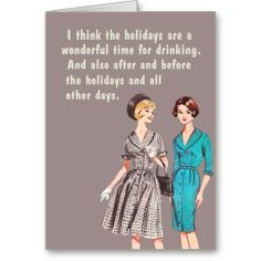 Holiday drinking cards