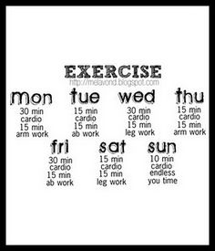 simple week workout