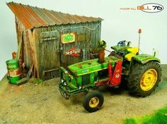 John Deere 3120 by GeorgesLeBras · Putty&Paint Plastic Model Cars, New Farm, Miniture Things, Model Trains, Scale Models, Painting, Vignettes, Farming, Townhouse