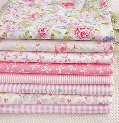 8 PCS 40CM*50CM pink cotton patchwork fabric  sewing quilting tissue DIY crafts tilda doll cloth tecidos bundle patchwork tissue