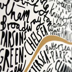 London print #lettering