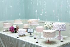 Special Events - Magnolia Bakery's Deconstructed Wedding Cake Table. I love this idea!