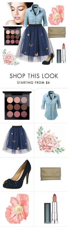 """""""Summer To Fall"""" by chicastic ❤ liked on Polyvore featuring LE3NO, George J. Love and Maybelline"""