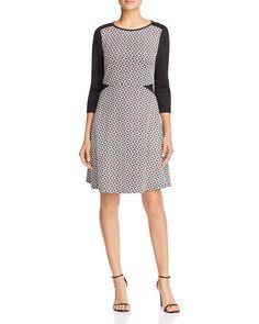 FINITY Color Block Jacquard A-Line Dress