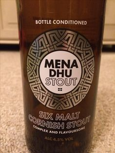 Men's Dhu stout, 4.5% St Austell Brewery
