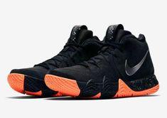 cea2a68e65d Nike KYRIE 4 Venus Flytrap Mens Basketball Shoes Black Orange 943806 010   Nike  BasketballShoes