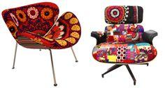 loving the Xalcharo fabrics on classic chairs