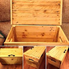 recycled pallets wood chest plan