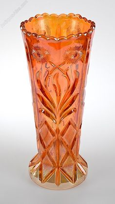 Antiques Atlas - Brockwitz Carnival Marigold Glass Vase